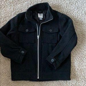 Boys Wool Coat- Old Navy Size Medium Peacoat